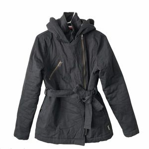 Dickie's Winter Jacket Belt waist asymmetric zip S